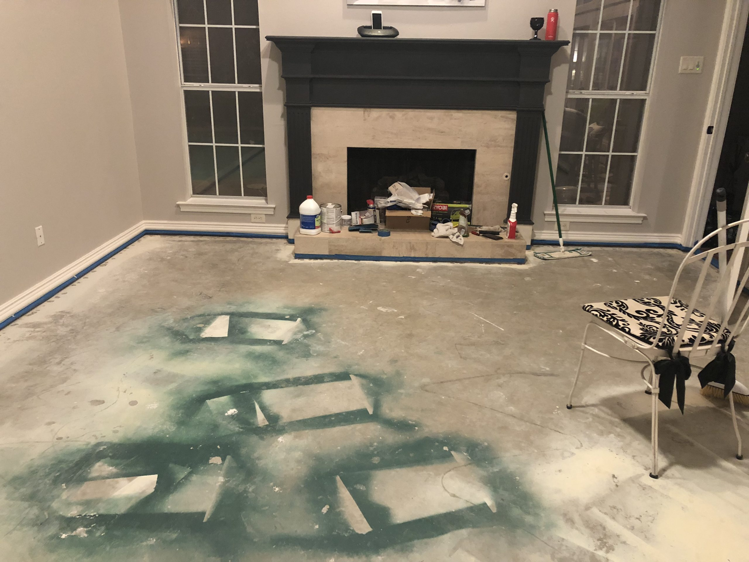 How To Paint Concrete Floors Home Decor And Home Improvement Diy